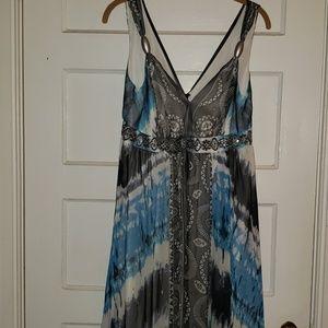 Beautiful Flowing Glitzy Trim floor length dress